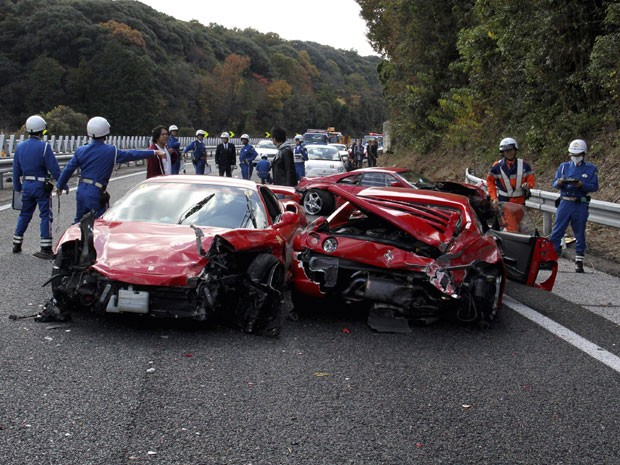 Acidente com carros de luxo no Jap&#227;o aconteceu em 2011 (Foto: Arquivo/AFP)