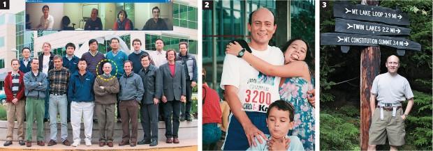 CARREIRA, FAMÍLIA E HOBBY 1. Malvar e sua equipe da Microsoft, em foto de 2002 na sede da empresa 2. Em Brasília, em 1993, com os filhos  3. Num parque na região de Redmond, onde ele faz trilhas para relaxar (Foto: Arq. pessoal)