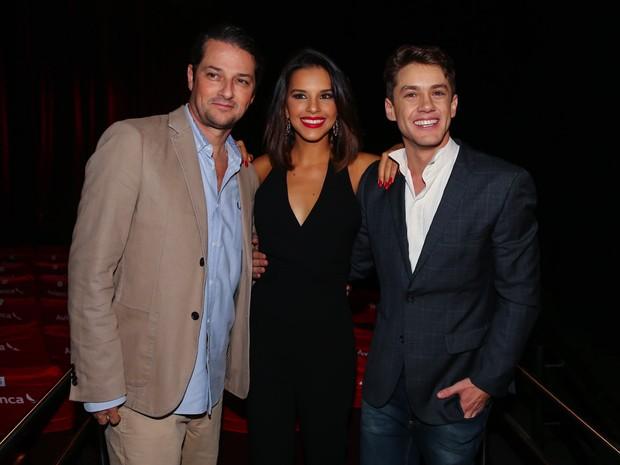 Marcelo Serrado, Mariana Rios e Leonardo Miggiorin em musical em São Paulo (Foto: Manuela Scarpa e Marcos Ribas/ Foto Rio News)