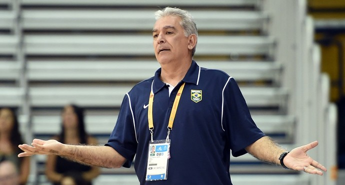 Zanon técnico Brasil basquete Pan-Americano 2015 (Foto: Gaspar Nobrega/inovafoto)