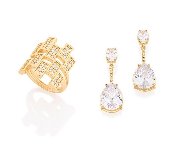 Zircônia é uma das pedras que dá sofisticação às joias  (Foto: Rommanel)
