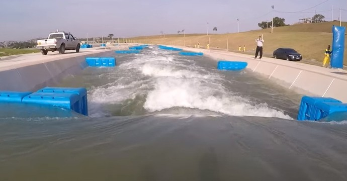 Descida circuito de canoagem slalom de Deodoro Olimpíadas (Foto: Reprodução)