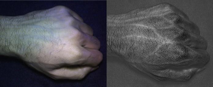 Foto capturada com HyperCam à direita (Foto: Divulgação/Universidade de Washington)