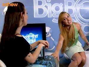 bate-papo Aline (Foto: BBB / TV Globo)