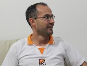Giulinano Ramos treinador do Caic Baldoíno (Foto: Náyra Macêdo/GLOBOESPORTE.COM)