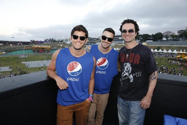Bruno Gissoni,  Felipe Titto e Marco Luque  (Foto: Felipe Panfili/AgNews)