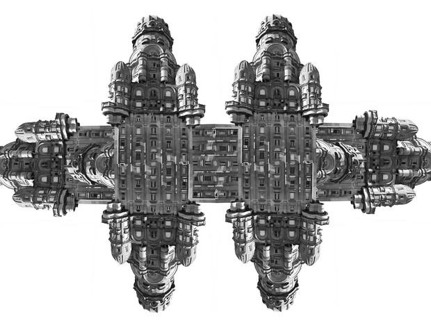 Colagem 'Mantra', de Lucas Reitz, trabalha frangmentos de cidades (Foto: Lucas Reitz/Reprodução)