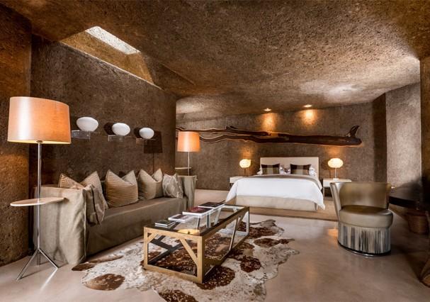 Hotel Earth Lodge, no Sabi Sabi Private Game Reserve (Foto: Divulgação)