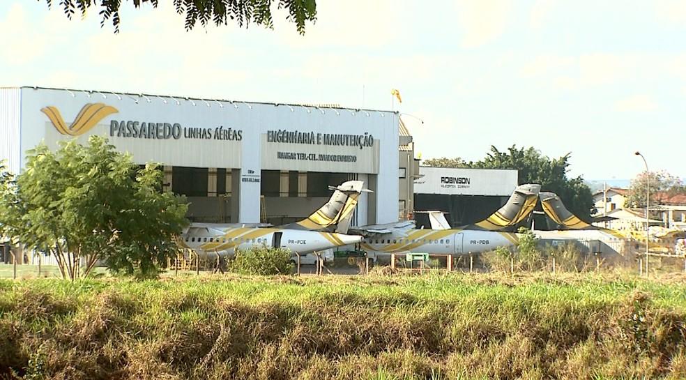 Passaredo Linhas Aéreas tem sede em Ribeirão Preto (Foto: Claudio Oliveira/EPTV)