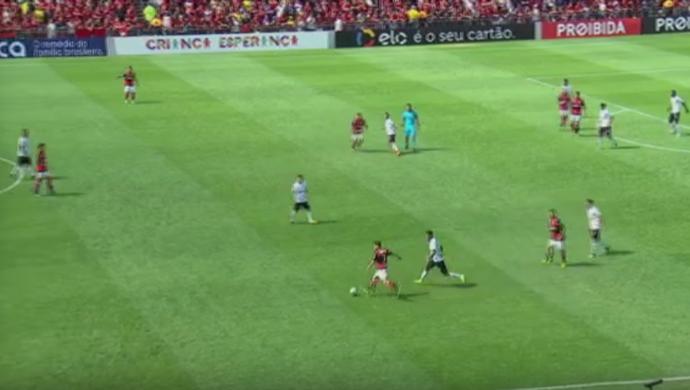 Everton Ribeiro erro de passe (Foto: Reprodução SporTV)