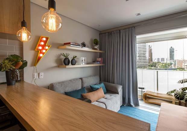 Apartamento de 36 m²: compacto, mas bem resolvido (Foto: Romulo Fialdini/divulgação )