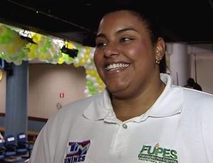 Maria Suelen Altheman, judoca (Foto: Reprodução / TV Tribuna)