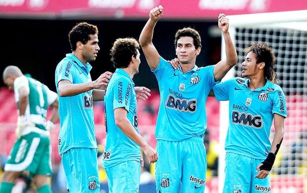 Ganso comemora gol do Santos contra o Guarani (Foto: Marcos Ribolli / Globoesporte.com)