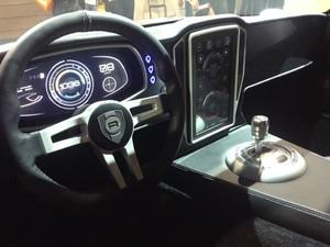 Fabricante Nvidia desenvolve painel virtual para automóveis (Foto: Gustavo Petró/G1)