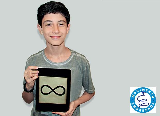 Natan Gorin, 13, criador do iBoletim, aplicativo que calcula os pontos necessários para que os alunos passem de ano (Foto: acervo pessoal)