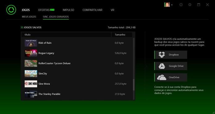 Aplicativo é compatível com Dropbox, Google Drive e OneDrive (Foto:Reprodução/Cássio Barbosa)