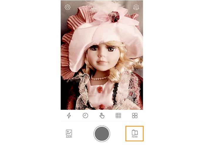 Acesse os filtros do app Noah Camera (Foto: Reprodução/Barbara Mannara)
