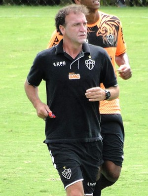 Cuca e Fernandinho treino Atlético-MG (Foto: Léo Simonini)