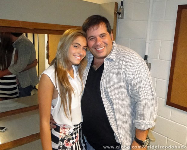 Leandro Hassum comemorou o Dia dos Pais no Caldeirão (Foto: Caldeirão do Huck/TV Globo)