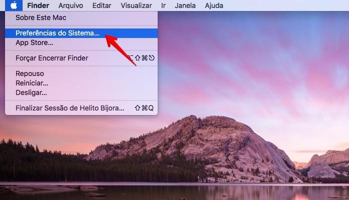 Acesse as configurações do macOS (Foto: Reprodução/Helito Bijora)