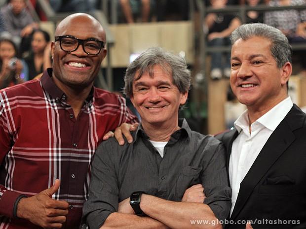 Serginho recebe Anderson Silva e Bruce Buffer no Altas Horas (Foto: TV Globo/Altas Horas)