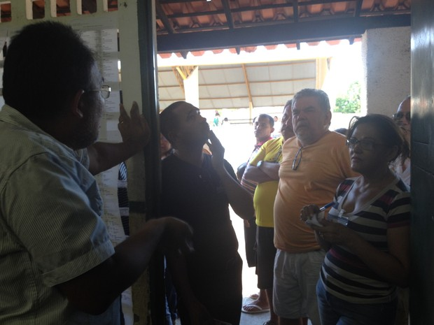 Eleição no bairro Morada do Sol, Zona Leste de Teresina (Foto: Emanuele Madeira/G1)