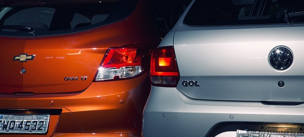 Chevrolet Onix 1.0 x VW Gol 1.0 (Foto: Fabio Aro)