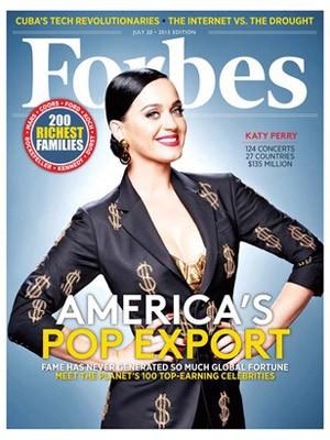 Katy Perry na capa da 'Forbes' (Foto: Divulgação)