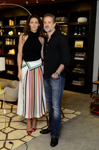 Maria Fernanda Cândido e Dan Stulbach (Foto: Roberto Teixeira / EGO)
