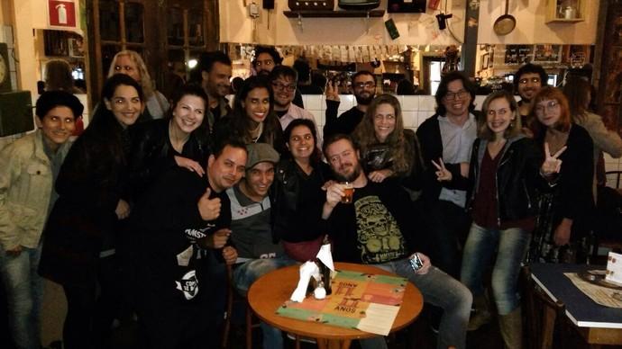 O público ficou empolgado com a apresentação da Gringo's e deu todo apoio para a banda (Foto: Arquivo pessoal)