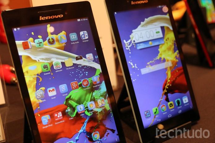 TAB 2 A7 é um tablet fino e leve da Lenovo (Foto: Isadora Díaz/TechTudo)