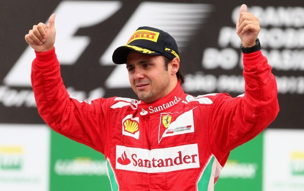 Felipe Massa no pódio do GP do Brasil, em Interlagos (Foto: Getty Images)