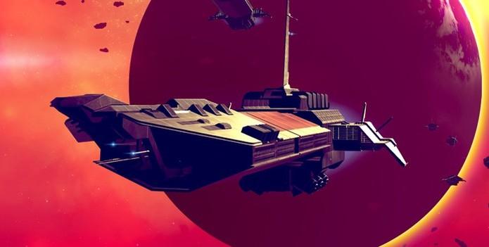 No Man's Sky: você pode destruir naves cargueiros para saquear seu conteúdo (Foto: Reprodução/Playstation) (Foto: No Man's Sky: você pode destruir naves cargueiros para saquear seu conteúdo (Foto: Reprodução/Playstation))
