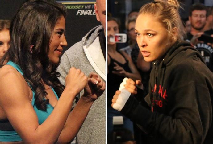 Julianna Peña e Ronda Rousey, mma (Foto: Montagem sobre foto da Getty Images)