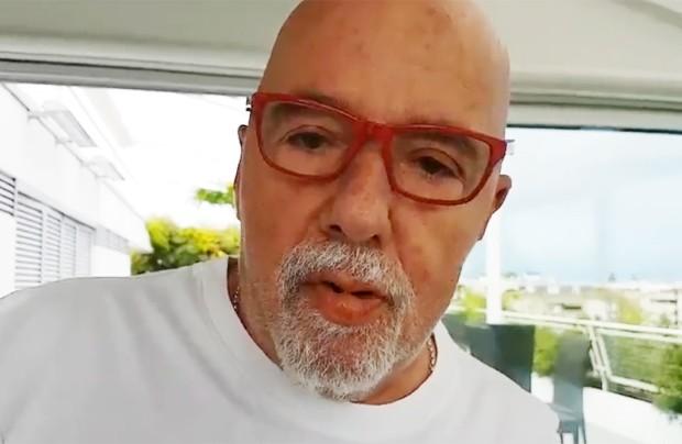Paulo Coelho publicou vídeo em rede social (Foto: Reprodução/Twitter)