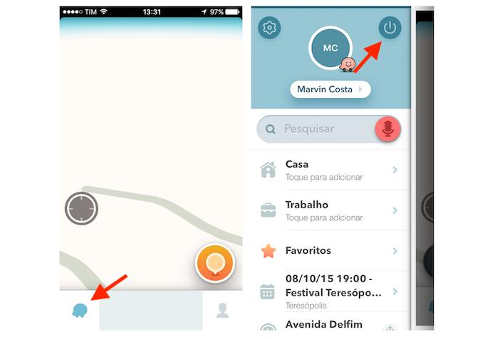 Desativando o Waze no iPhone (Foto: Reprodução/Marvin Costa)
