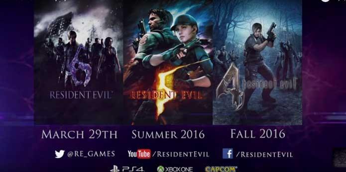 Resident Evil 4, 5 e 6 chegam ao Xbox One e PS4 (Foto: Divulgação/Capcom)