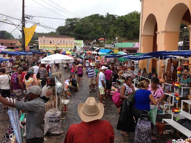 Feira de Caxixis é realizada há mais de 300 anos na cidade (Foto: Monique Paim)
