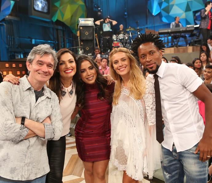 Serginho recebe Patrícia Poeta, Anitta, Carolina Dieckmann e Zé Roberto (Foto: Carol Caminha/Gshow)