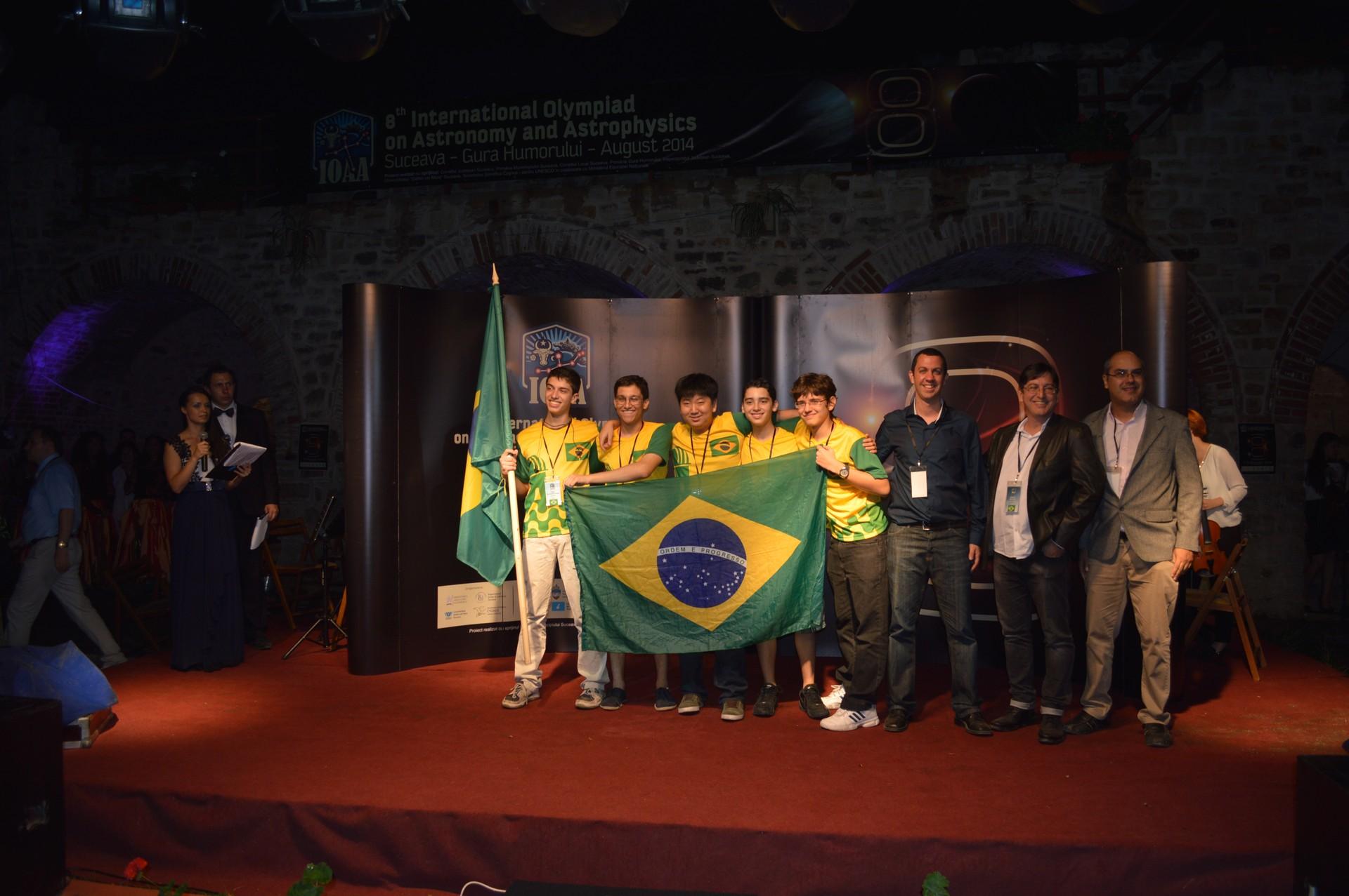 A delegação brasileira (Foto: divulgação - Olimpíada de Astronomia)