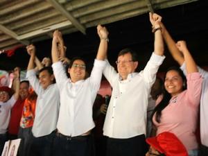 José Ricardo é candidato a prefeitura de Manaus e Yann Evanovick a vice-prefeito pela coligação 'Juntos por Manaus' (Foto: Divulgação/Assessoria)