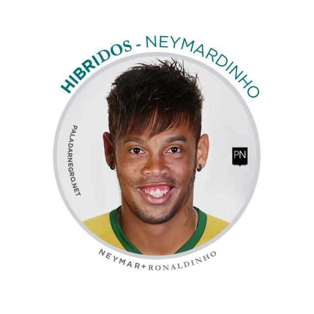 Neymardinho, mistura de Neymar com Ronaldinho Gaúcho
