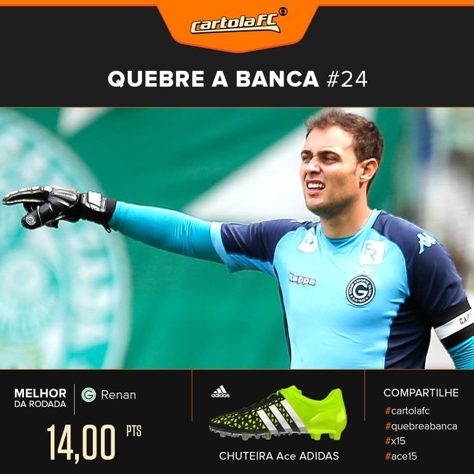 Card Cartola Adidas Quebra a banca rodada 24 - Renan, Goiás (Foto: Editoria de Arte)