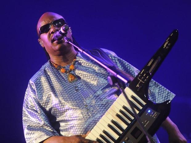 Stevie Wonder comemora 50 anos de carreira em 2011 (Foto: Flavio Moraes/G1)