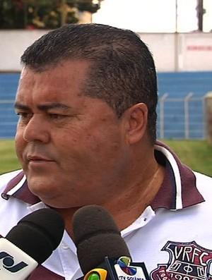 João Rodrigues, gerente de futebol da Aparecidense (Foto: Reprodução/TV Anhanguera)