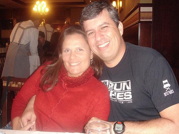 Kika e Marcos j[a estão juntos a cerca de 6 anos. Ele fez a cirurgia bariátrica dela. (Foto: Arquivo Pessoal)
