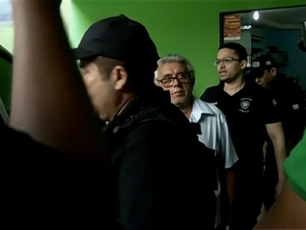 Vereador Odilon Rocha no momento em que foi preso na última terça-feira (26). (Foto: Reprodução/TV Liberal)