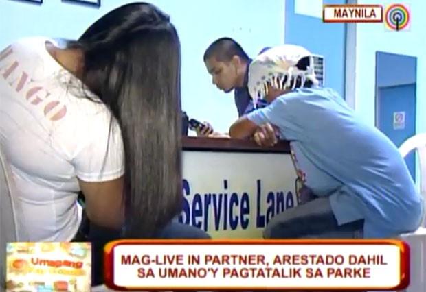 Rey Jojo e Maria Teresa Salvador foram presos após sexo em parque. (Foto: Reprodução)