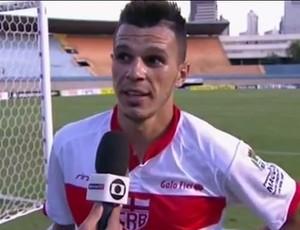 Welinton Júnior, atacante do CRB (Foto: Reprodução/Premiere FC)