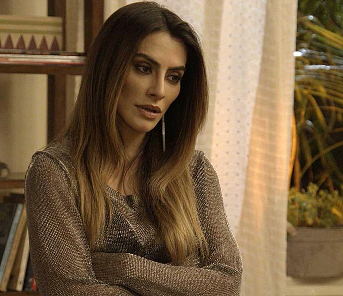 Tamara fica preocupada em conversa com Apolo (Foto: TV Globo)